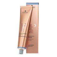 Balinimo ir tonavimo kremas plaukams Schwarzkopf Blond Me Bleach & Tone Lightening Additive Rose Additive 60 ml-0