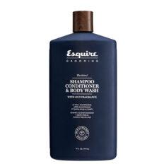 Plaukų šampūnas, kondicionierius, kūno prausiklis Esquire Grooming 3 in 1 414ml-0