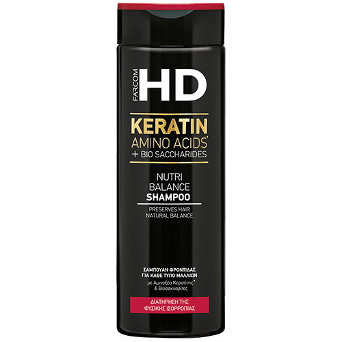 Plaukų šampūnas Farcom HD Keratin Amino Acids + Bio Saccharides Nutri Balance 400ml-0