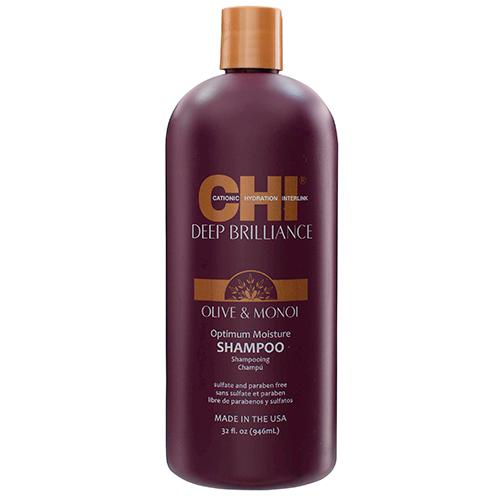 Drėkinamasis šampūnas Chi Deep Brilliance Olive & Monoi Shampoo 946ml-0