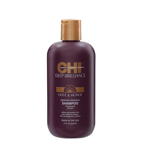 Drėkinamasis šampūnas Chi Deep Brilliance Olive & Monoi Shampoo 355ml-0