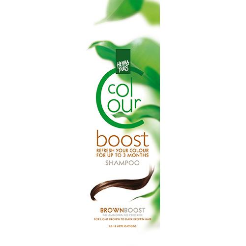 Dažantis plaukų šampūnas Henna Plus Colour Boost Brown 200ml-0