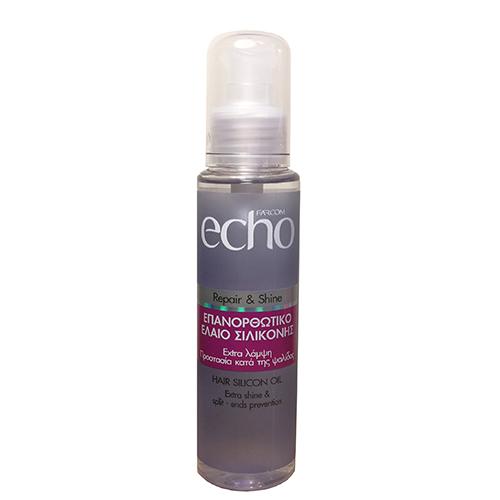 Plaukų serumas pažeistiems plaukams ECHO Silicon Repair&Shine 100ml-0