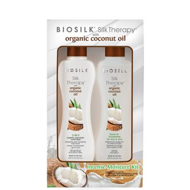 Rinkinys plaukams Biosilk Silk Theraphy with Organic Coconut Oil 2x167ml-0