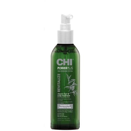 Galvos odos purškiklis su vitaminais CHI PowerPlus Hair Renewing System Revitalize Vitamin Hair & Scalp Treatment 104ml-0