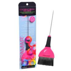 Šepetėlis plaukų dažymui su metaliniu koteliu Framar Coloring Pink Brush -0