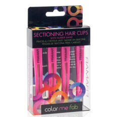 Segtukai plaukams Framar Sectioning Hair Clips with Rubber Band 4 vnt.-0