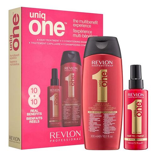 Plaukų priežiūros priemonių rinkinys Revlon UniqueOne Hair Treatment 300+150ml -0
