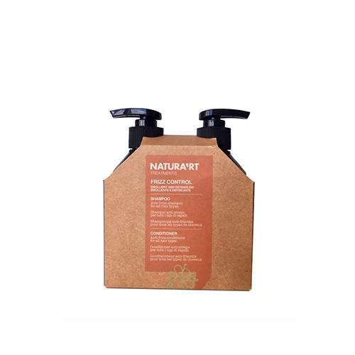 Rinkinys nepaklusnių plaukų priežiūrai Rica Frizz Control Shampoo & Conditioner 250x250ml