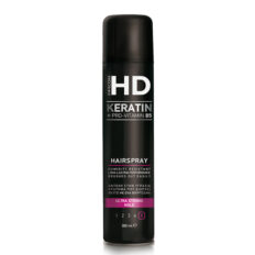 Labai stiprios fiksacijos plaukų lakas Farcom HD Keratin Ultra Strong Hold Hairspray (5) 300ml