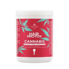 Plaukų kaukė su kanapių sėklų aliejumi Kallos Cosmetics Hair Pro-Tox Cannabis Hair Mask 1000 ml