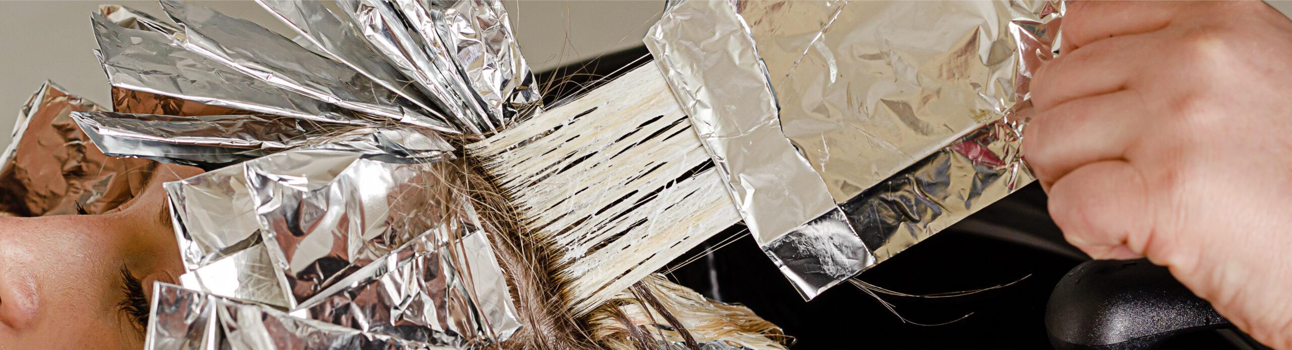plaukų dažymas AirTouch technika