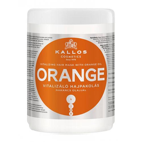 Plaukų kaukė sausiems plaukams Kallos Orange Hair Mask 1000 ml