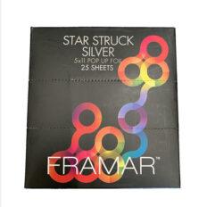 Folijos lapeliai plaukų dažymui Framar 5x11 Star Struck Silver 25 vnt.