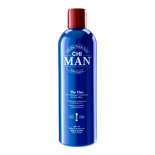 CHI MAN The One 3-in-1 Shampoo, Conditioner & Body Wash 355ml
