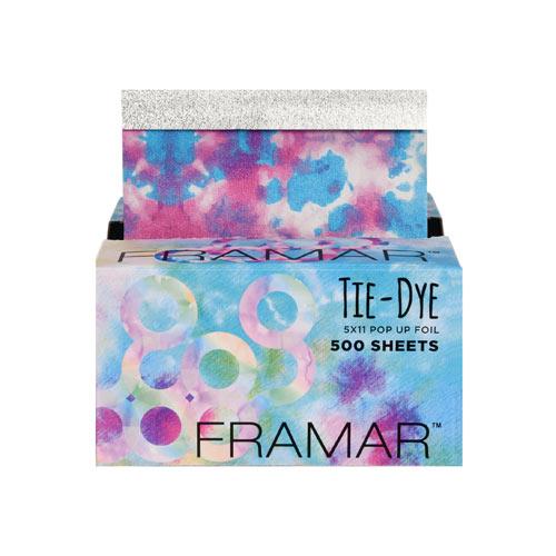 Spalvoti folijos lapeliai Framar Tie-Dye Sheets 500 vnt.