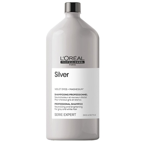 Atspalvį koreguojantis šampūnas L'Oreal Professionnel Silver Shampoo 1500ml