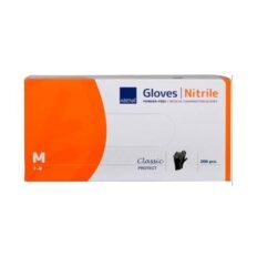 Nitrilinės pirštinės be pudros ABENA Nitrile Powder-Free Medical Examination Gloves Black M 200vnt.